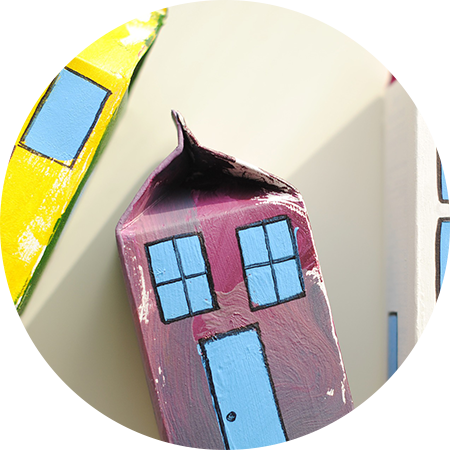Easy Milk Carton Cardboard House